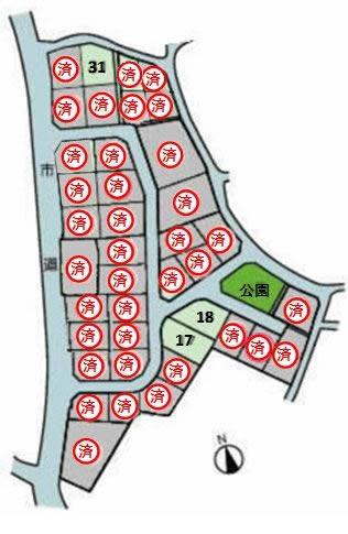 ガーデンライフ宮司区画図